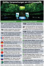 KLIMWANDEL: Versprechungen am UN Gipfel infographic