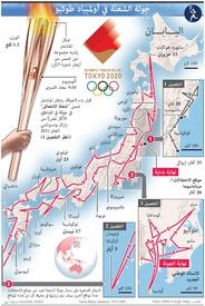 طوكيو ٢٠٢٠: جولة شعلة أولمبياد طوكيو infographic