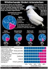 WISSENSCHAFT: Wildtierhandel infographic