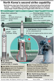 NORTH KOREA: Sub-launched ballistic missile infographic