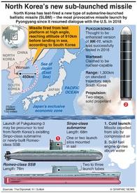 NORTH KOREA: Pukguksong-3 missile infographic