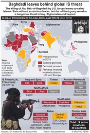 TERRORISM: IS global provinces infographic