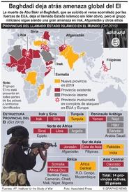TERRORISMO: Provincias del EI en el mundo infographic