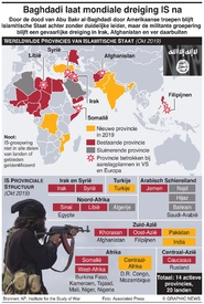 TERRORISME: Wereldwijde IS-provincies infographic