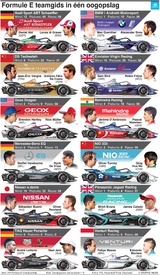 FORMULE E: Teamgids 2019-20 (1) infographic