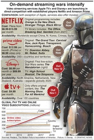 ENTERTAINMENT: On-demand streaming wars intensify (1) infographic