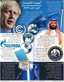 أخبار: أجندة الأحداث - كانون الأول ٢٠١٩ infographic
