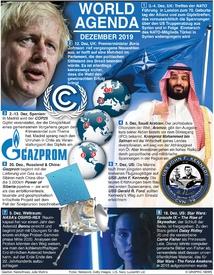WORLD AGENDA: Dezember 2019 infographic