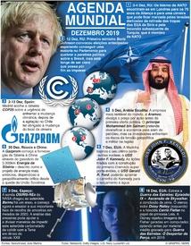 AGENDA MUNDIAL: Dezembro 2019 infographic