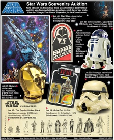 FILM: Star Wars Souvenir  Auktion infographic