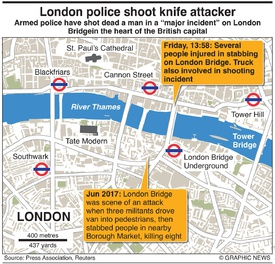 CRIME: London police shoot knife attacker infographic