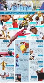 نهاية العام: أبرز الأحداث الرياضية الدولية في العام ٢٠١٩ infographic
