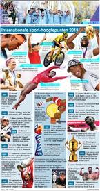 EINDE-JAAR: Internationaal sportoverzicht van 2019 infographic