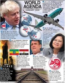 WORLD AGENDA: January 2020 infographic