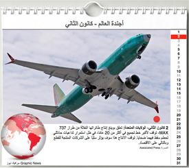 أخبار: أجندة الأحداث - كانون الثاني ٢٠٢٠ - رسم تفاعلي infographic