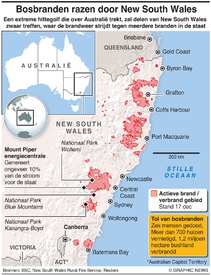 AUSTRALIË: Bosbranden New South Wales infographic
