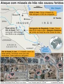 CONFLITO: Danos do ataque do Irão infographic