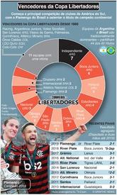 FUTEBOL: Vencedores da Copa Libertadores infographic