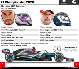 F1: Championship Standings and Team Guide interactive 2020 (3) infographic