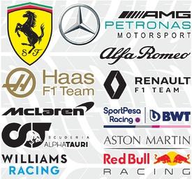 F1: Team logos 2020 (2) infographic