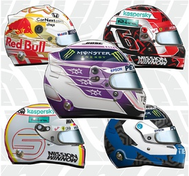 F1: Drivers' helmets 2020 (3) infographic