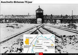 AUSCHWITZ: Holocaust Memorial Day 75 jaar interactive infographic