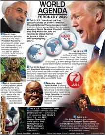 WORLD AGENDA: February 2020 infographic