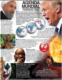 AGENDA MUNDIAL: Febrero 2020 infographic