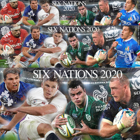 Six Nations 2020 banner infographic