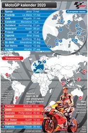 MOTOGP: Schema seizoen 2020 (1) infographic