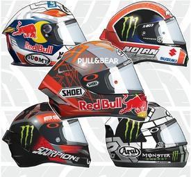 MOTOGP: Rider helmets 2020 infographic