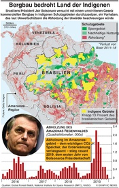 UMWELT: Bergbau bedroht Brasiliens Indigene infographic