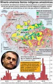 AMBIENTE: La minería amenaza tierras tribales de Brasil infographic