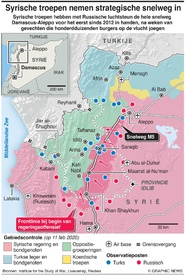 SYRIË: Regeringstroepen nemen strategische snelweg in infographic
