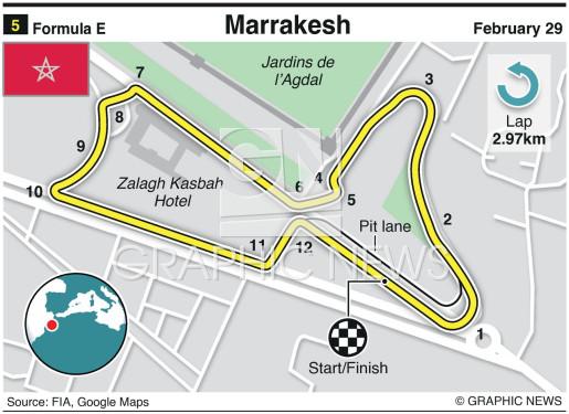 Marrakesh E-Prix circuit infographic