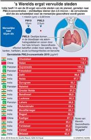 MILIEU: 's Werelds ergst vervuilde steden infographic