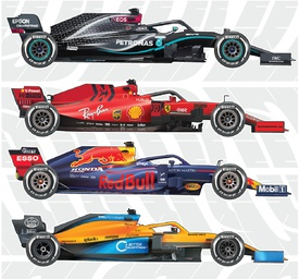 F1: Team car liveries 2020 (5) infographic