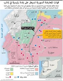 سوريا: قوات المعارضة السورية تسيطر على مدينة سراقب infographic