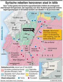 SYRIË: Oppositi herovert belangrijke stad in Idlib infographic