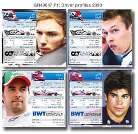 فورمولا واحد: بطاقات تعريف بالسائقين ٢٠٢٠ - الجزء الثاني (1) infographic