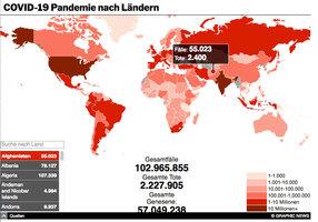 GESUNDHEIT: Coronavirus Pandemie interactive  (UPDATE 6 ) infographic