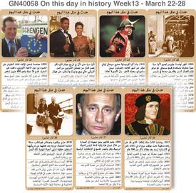 تاريخ: حدث في مثل هذا اليوم - ٢٢ - ٢٨ آذار - الأسبوع ١٣ infographic