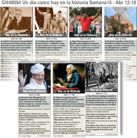 haitoria: Un día como hoy  Abril 12-18, 2020 (semana 16) infographic