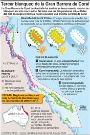 AMBIENTE: Blanqueo masivo de la Gran Barrera de Coral infographic