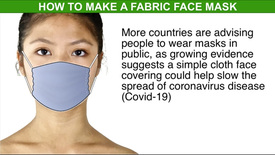 HEALTH: Making a fabric face mask infographic