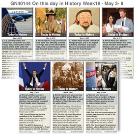 HISTORY: On this day May 3-9, 2020 (week 19) infographic