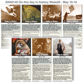 HISTORY: On this day May 10-16, 2020 (week 20) infographic