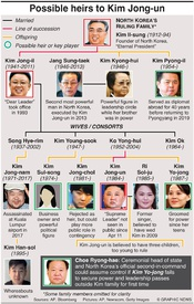 POLITICS: Possible heirs to Kim Jong-un infographic