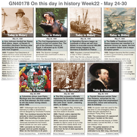 HISTORY: On this day May 24-30, 2020 (week 22) infographic