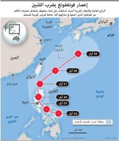 طقس: إعصار فونغفونغ يضرب الفلبين infographic